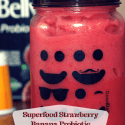 Strawberry Banana Probiotic Superfood Smoothie Recipe with Chia Seed