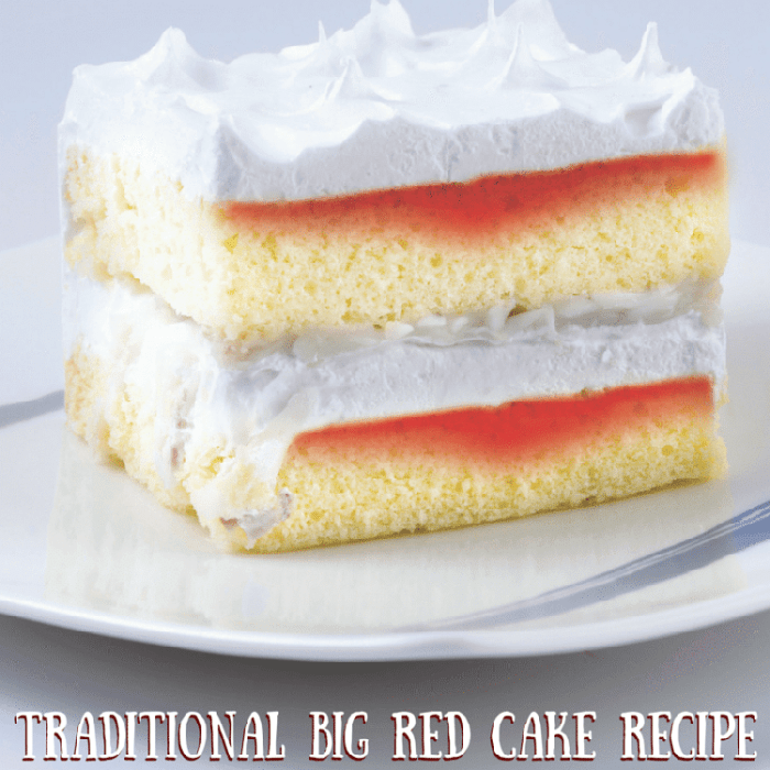 Traditional Big Red Cake Recipe