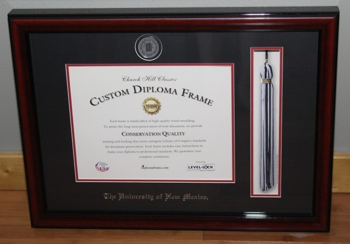 Gift Ideas To Celebrate Graduation   Custom Diploma Frames