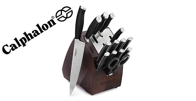 calphalon cutlery sets with sharpin technology comes in either 20 15 or 14 piece self sharpening knife block sets they are all fantastic for anyone that
