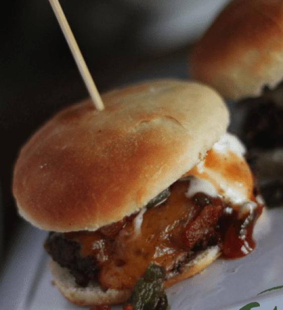 Sweet, Spicy & Cool Bacon Cheeseburger Sliders recipe