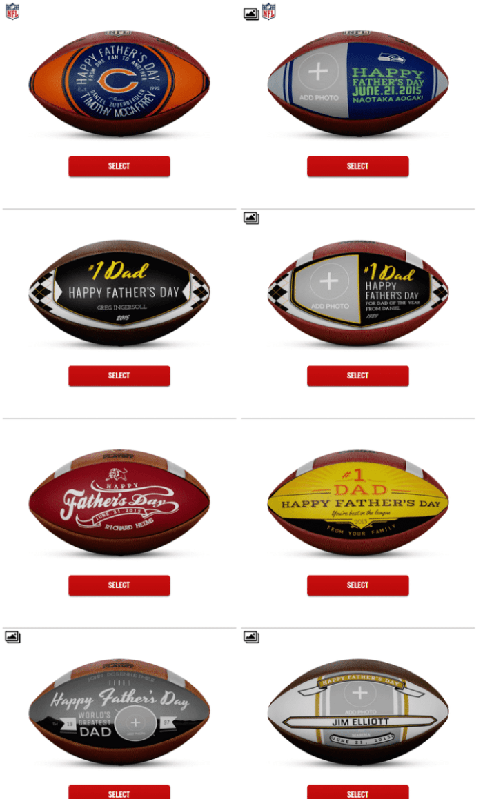 Wilson Custom Works   Football Customizer