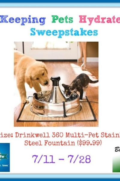 Keeping Pets Hydrated Sweepstakes