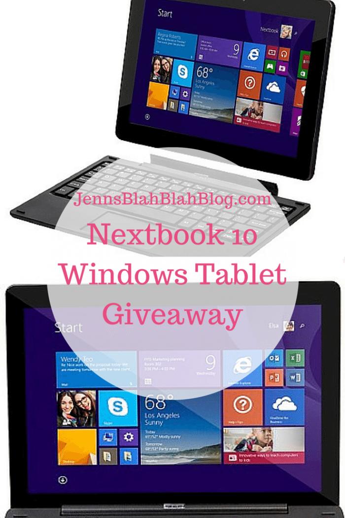 nextbook windows tablet giveaway