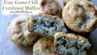 Quick & Easy New Mexico Green Chili Cornbread Muffins