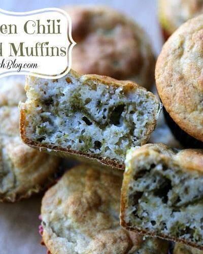 Quick & Easy New Mexico Green Chili Cornbread Muffins