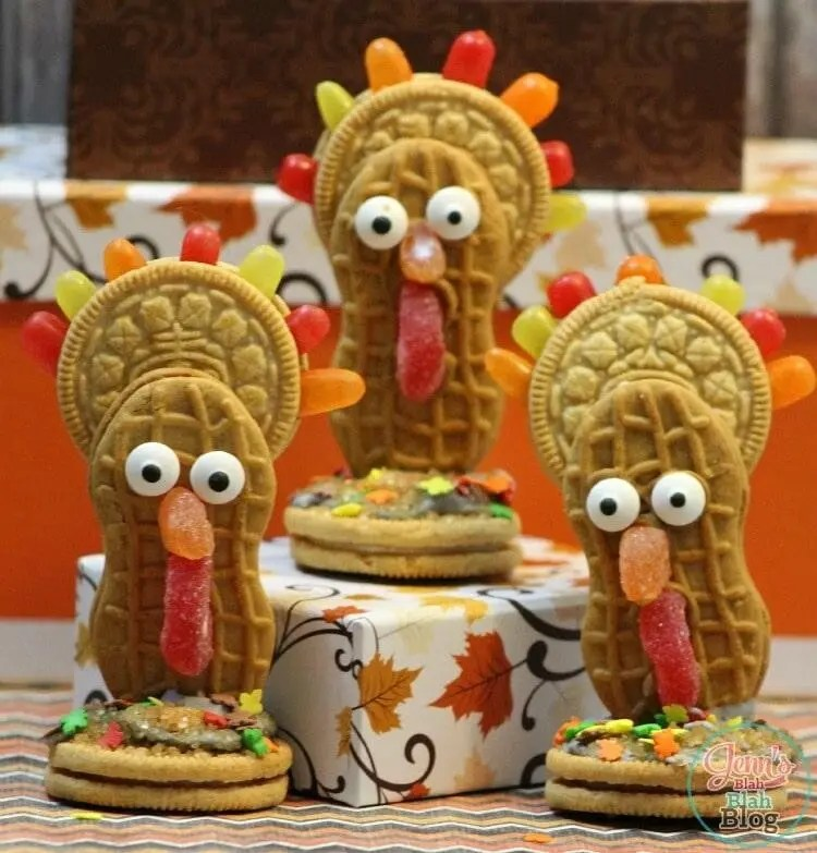 Cute Nutter Butter Thanksgiving Turkey Cookies Recipe