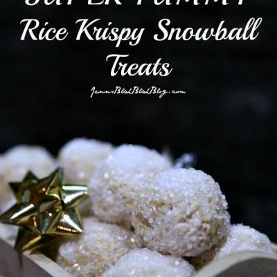 Rice Krispy Snowball Treats