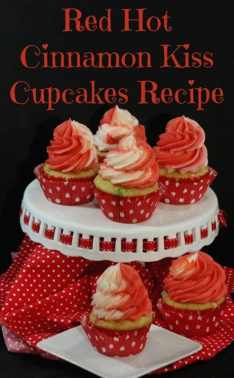 Red Hot Cinnamon Cupcakes Recipe for Valentine's Day
