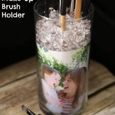 Quick & Easy DIY Picture Frame Makeup Brush Holder
