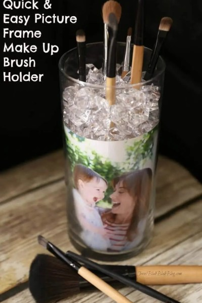 Quick & Easy DIY Picture Frame Makeup Brush Holder