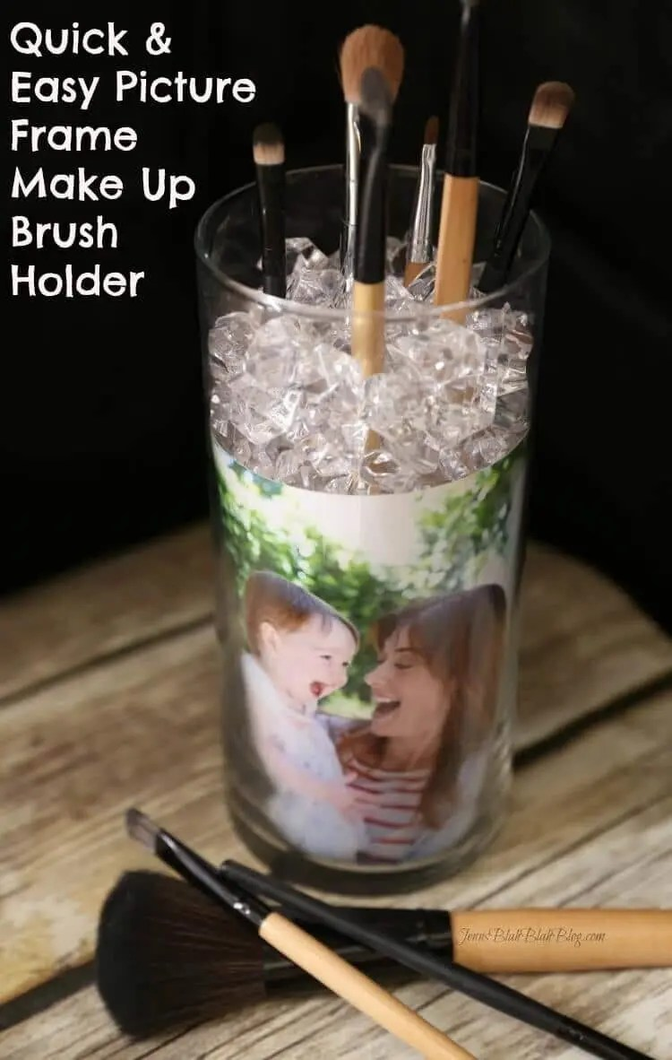 DIY Photo Frame Makeup Brush Holder