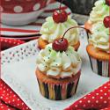 Shirley Temple Cupcakes with Lime Frosting Recipe