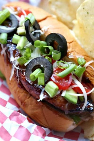 "Grilled BBQ Country Style Rib ""Dogs"""