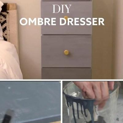DIY Ombre Dresser project