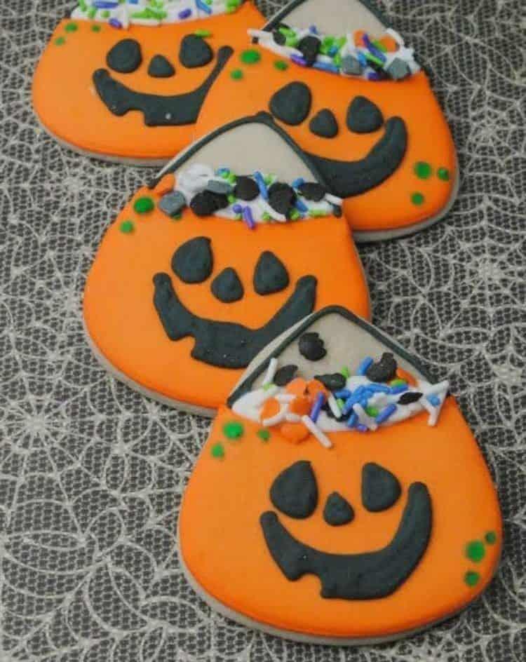 Cute Pumpkin Cookie Bag Cookies 3