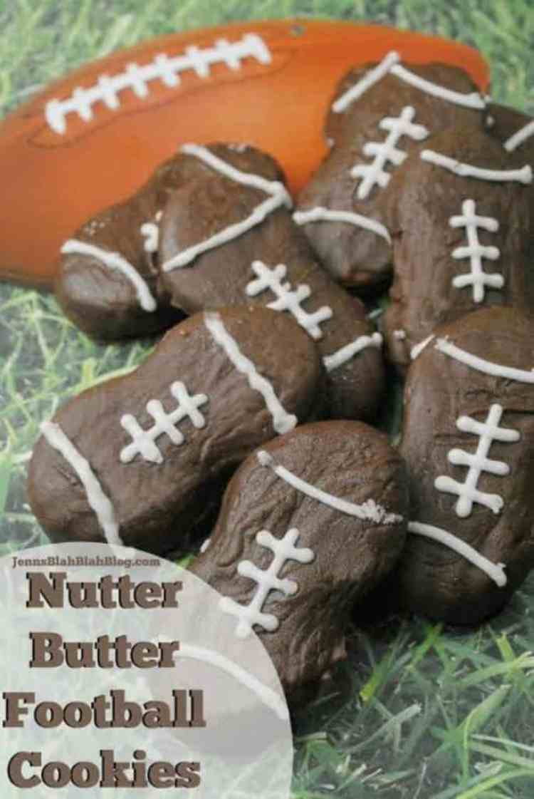 Nutter Butter Football Cookies