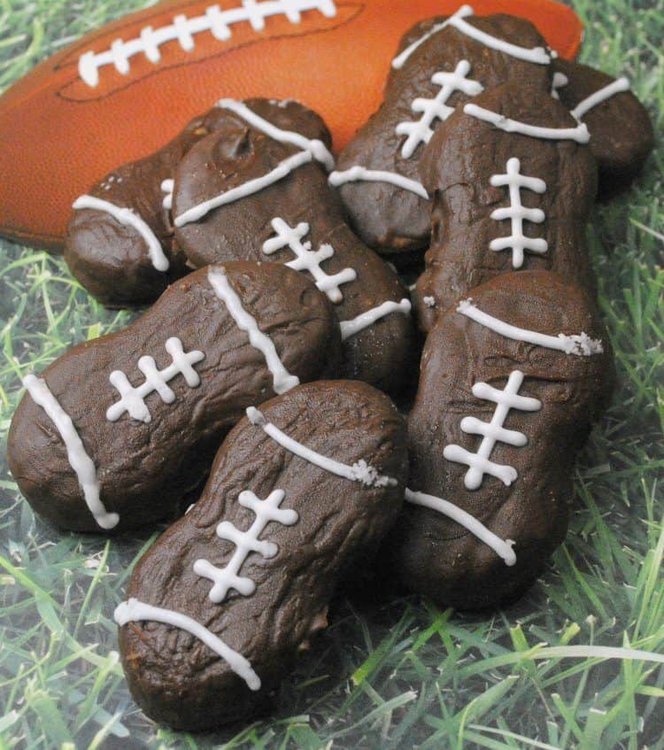 Nutter Butter Football Cookies