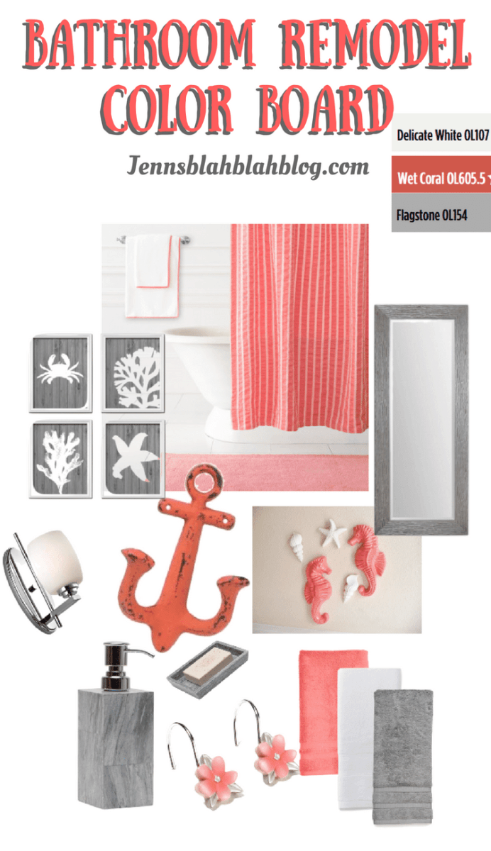 Bathroom Makeover Color Board + Lowes Gift Card Giveaway | Jenns ...