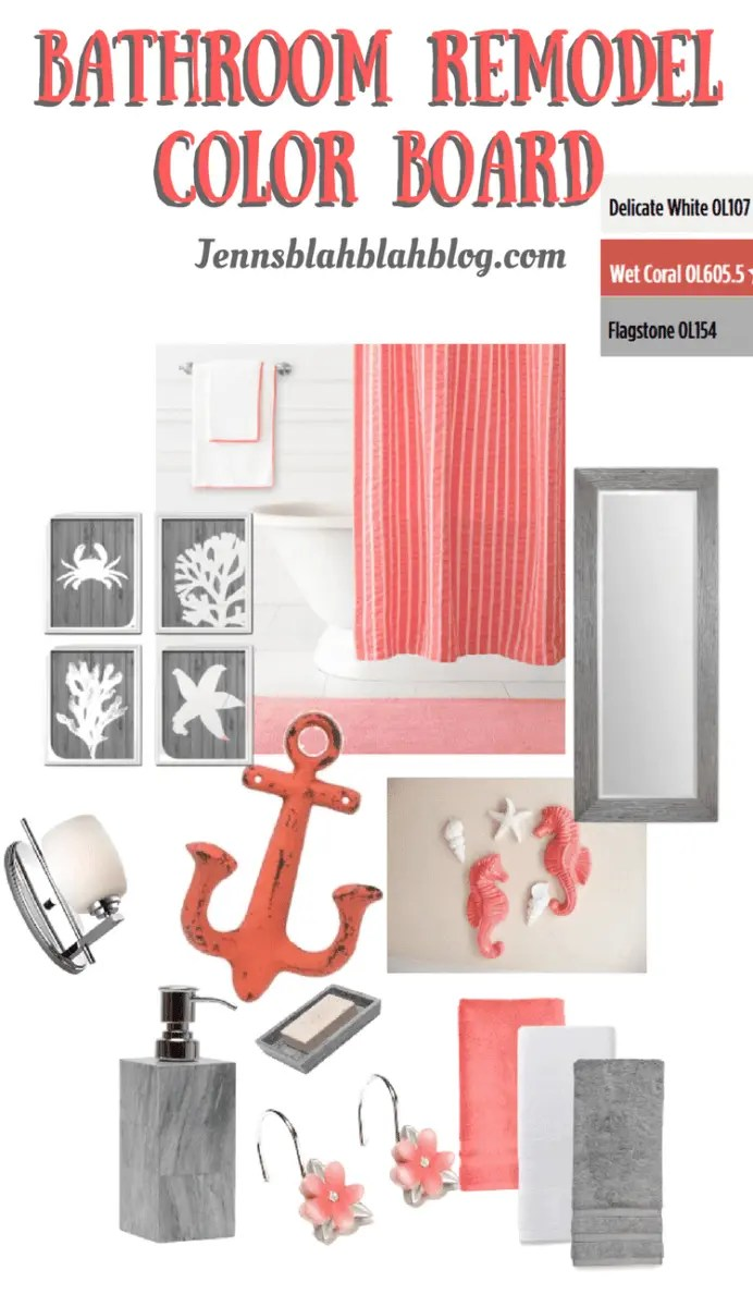 Great Bathroom Makeover Color Board