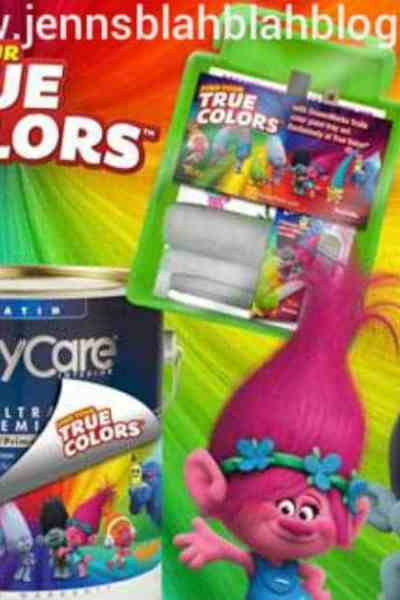 Win a $25 True Value Gift Card, 3 Quarts of Paint (One Trolls character's palette, character will vary) and one Paint tray kit with Character Stencils Giveaway