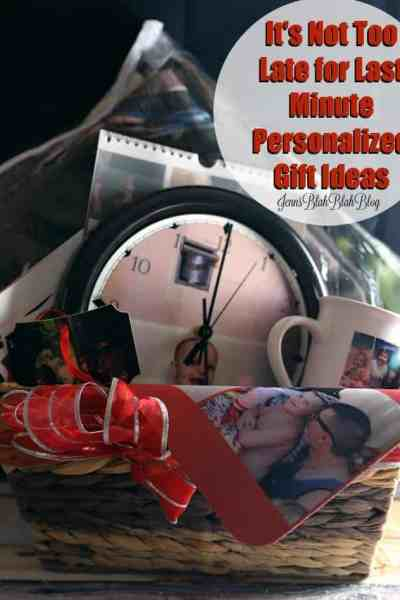 It's Not Too Late for Last Minute Personalized Gift Ideas