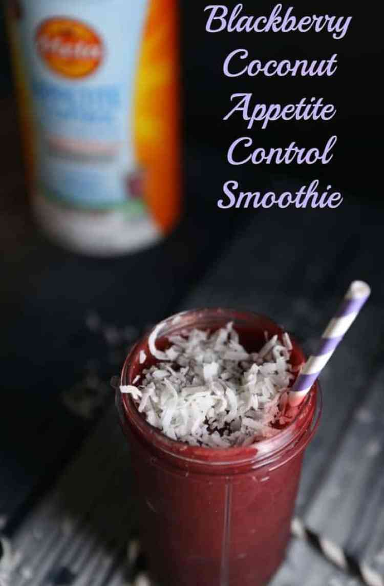 Blackberry Coconut Appetite Control Smoothie