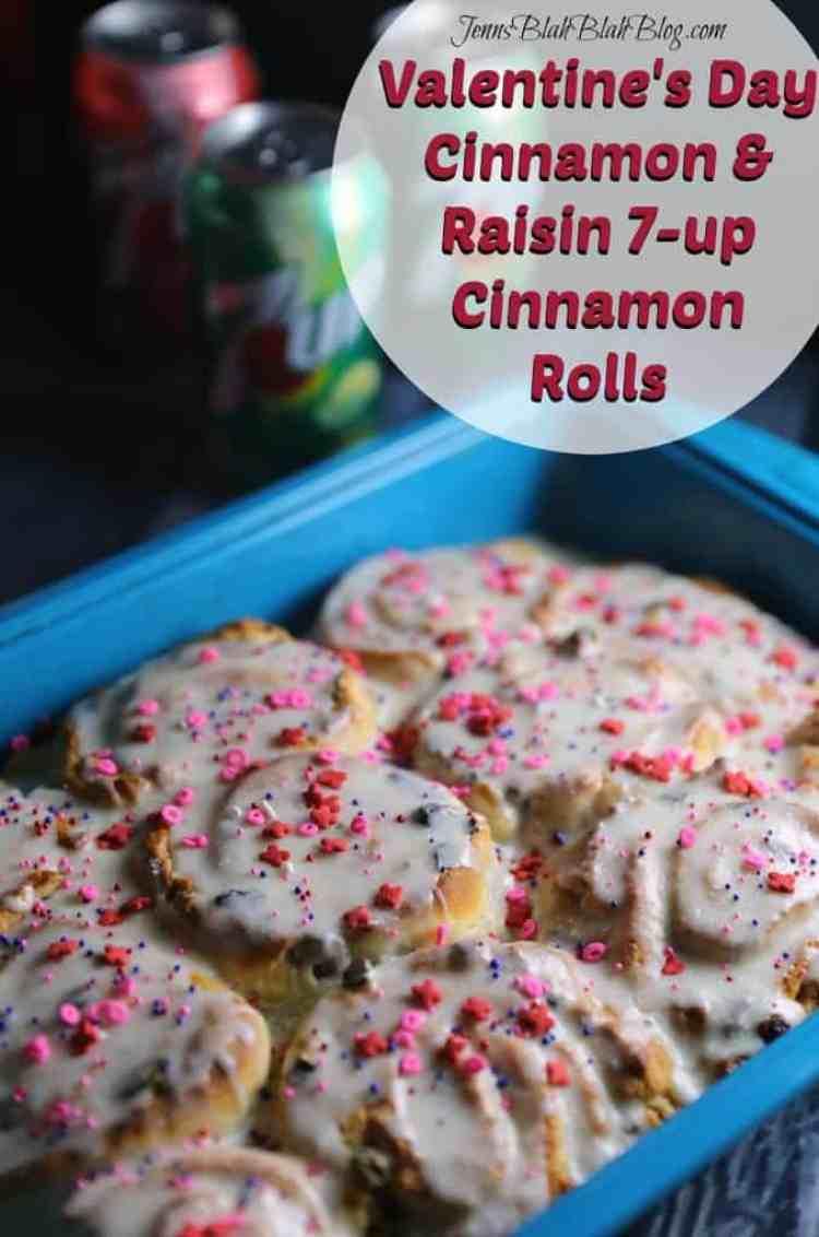 Valentine's Day Cinnamon & Raisin 7-up Cinnamon Rolls Recipe