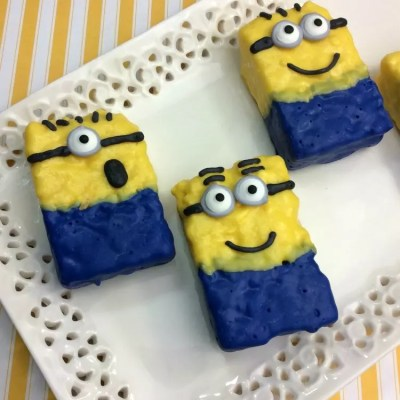 Easy Minions Rice Krispy Treats Recipe