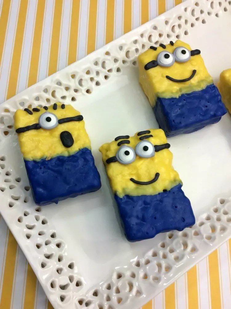 Minions Rice Krispy Treats