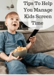 Tips To Help You Manage Kids Screen Time