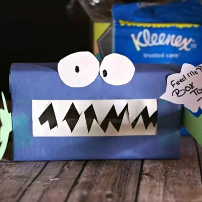 DIY Monster in the Cabinet Collection Box + Reasons To Collect Box Tops