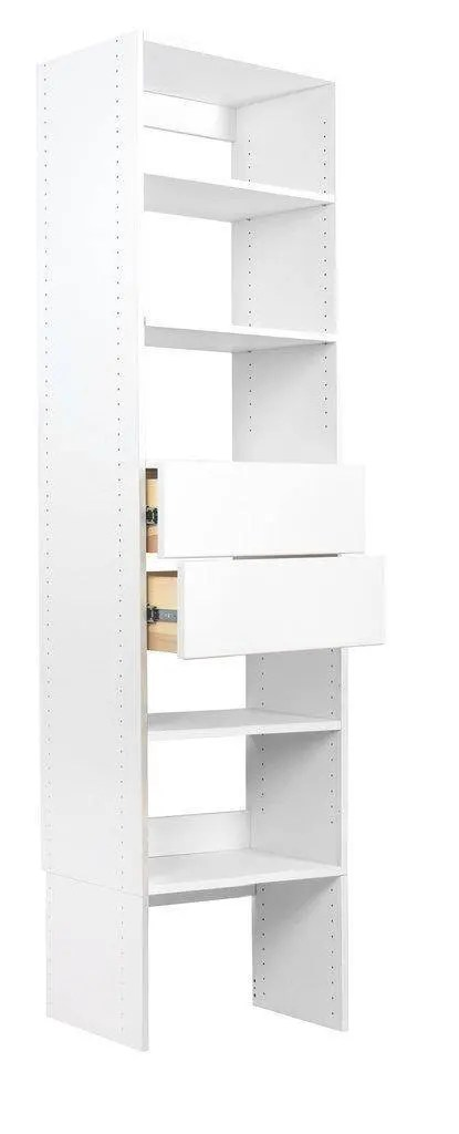 We Received The Modular Closet 2 Drawer Wood Shelf Tower Closet Organizer  With 2 Solid 18 IN Wood Birchbox Dovetail Drawers And Couldnu0027t Be Happier!