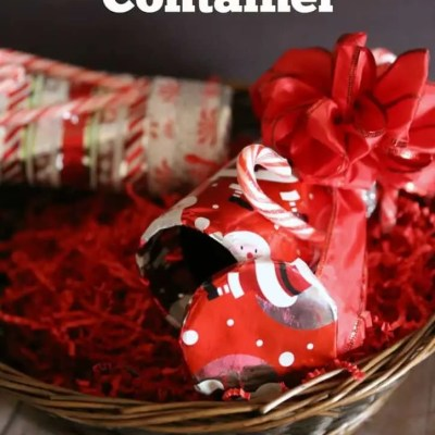 DIY Cookie Christmas Gift Container