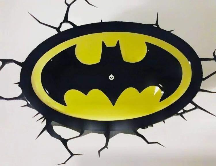 Boys Will Love This 3D Light FX Batman Emblem 3D Deco Light