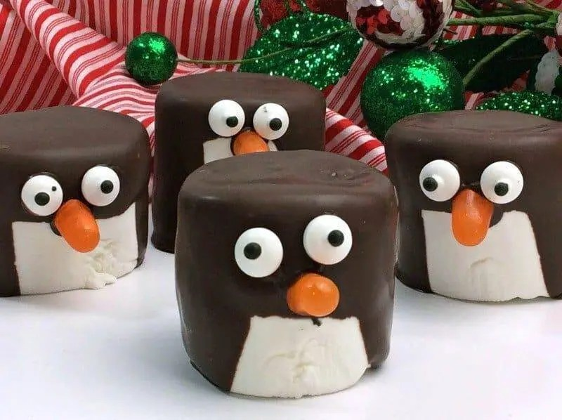 Chocolate Covered Marshmallow Penguins Recipe