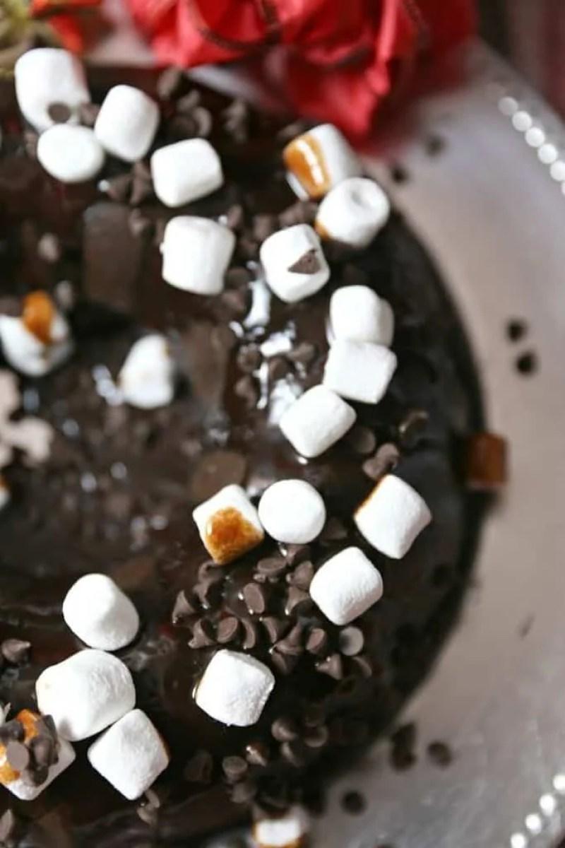 Mexican Hot Chocolate Breakfast Pancake Bake