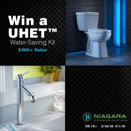 Conserve Water with a Water-Saving Kit with Niagara Stealth Toilet + Giveaway