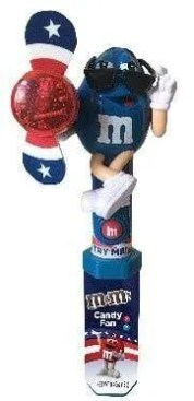 CandyRific M&MS Red White Blue fan