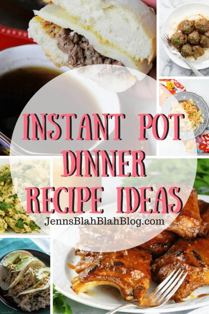 Instant Pot Dinner Recipe Ideas