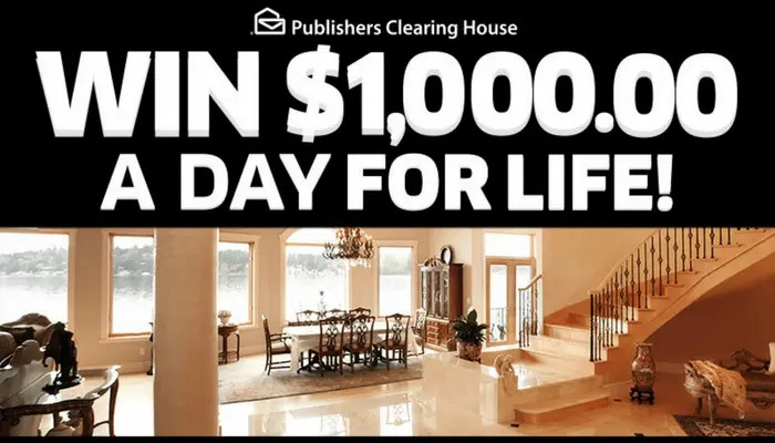 Publishers Clearing House | Win $1,000.00 a Day for Life!