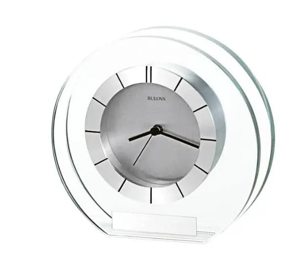 Accolade Silber Dial Mineral Glass Table Clock