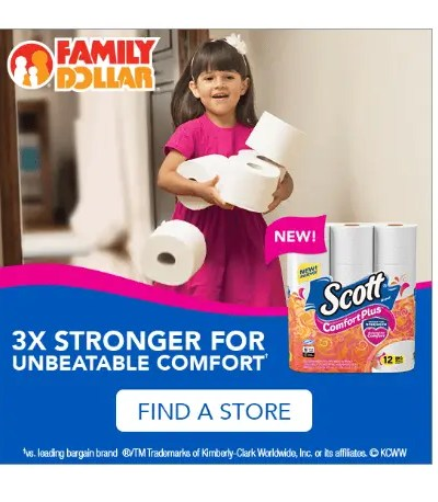 Save on Scott ComfortPlus 12 ct. Big Roll at Family Dollar