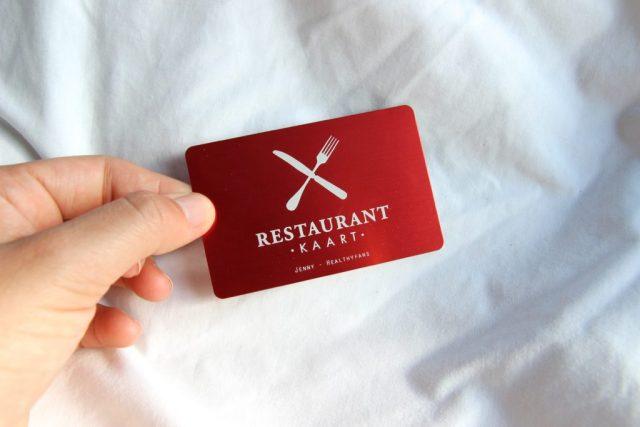 Restaurant Kaart