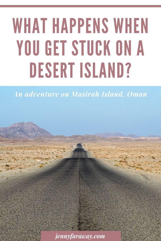 A Pinterest Graphic for a post about Masirah Island