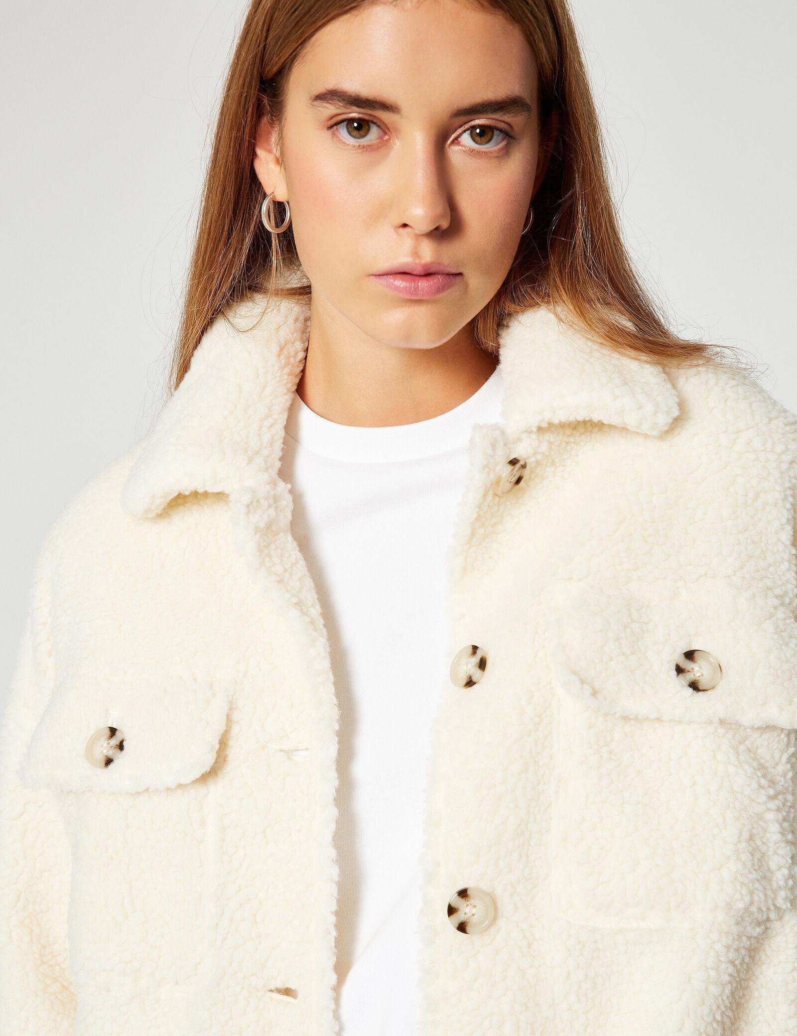 veste imitation peau de mouton