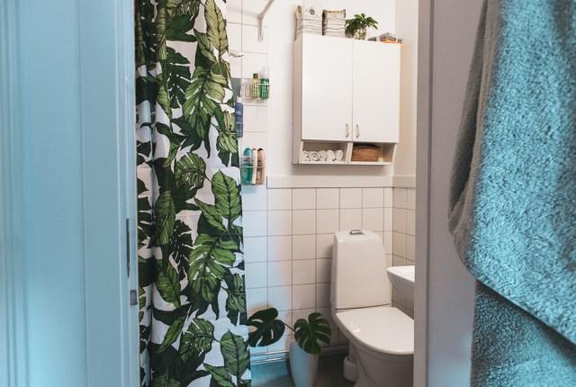 Inredning till ett litet badrum