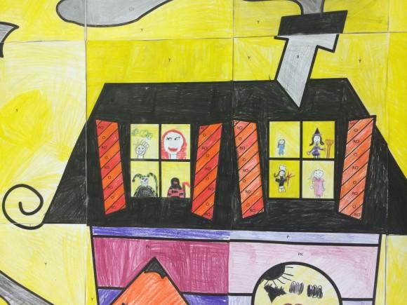 haunted house door poster