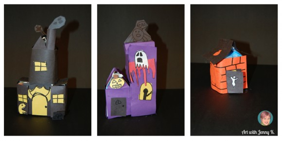 milk carton haunted house recycle