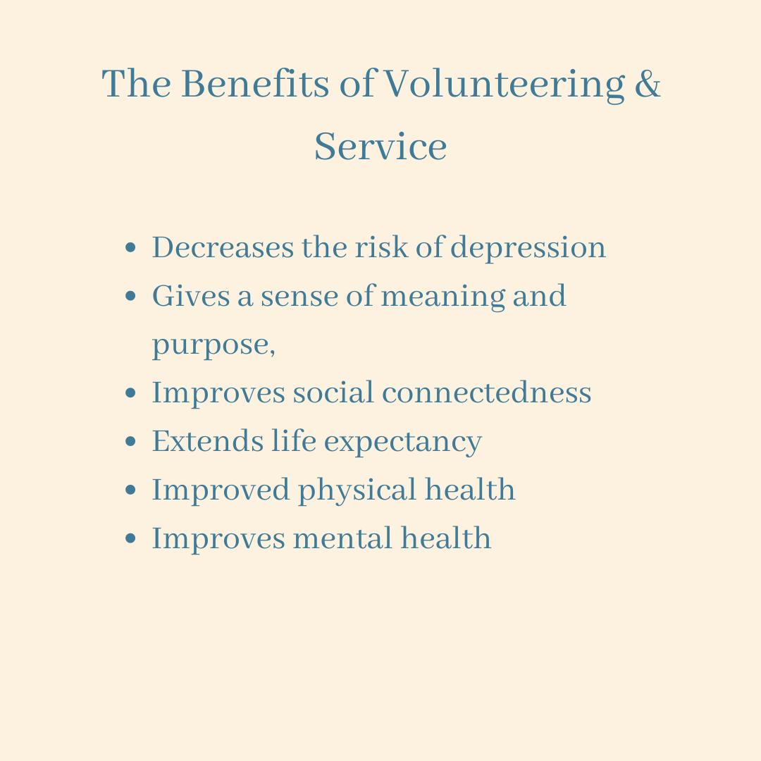 The Benefits of Volunteering & Service